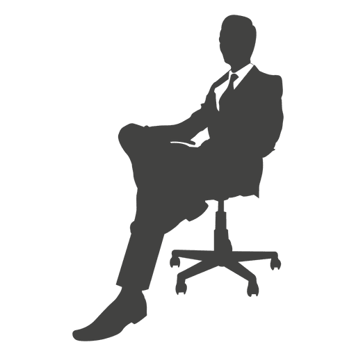 Relaxing businessman on chair Transparent PNG