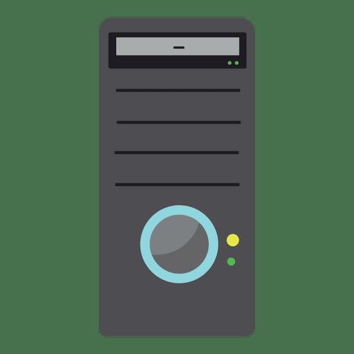 Ícone plana de torre de CPU de PC Transparent PNG