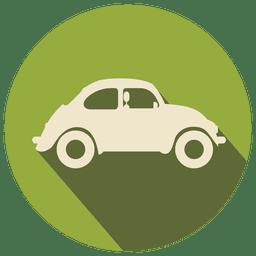 Ícone plano de carro retrô