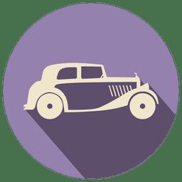 Etiqueta de icono de coche retro
