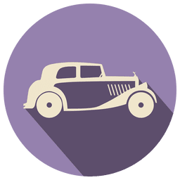 Retro car icon label
