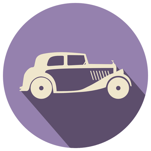 Retro car icon label Transparent PNG