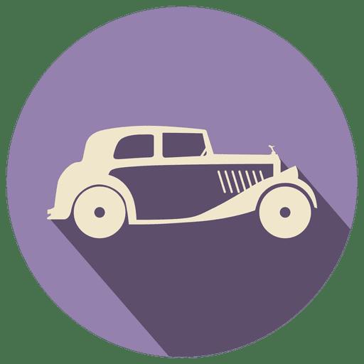 Retro car icon label