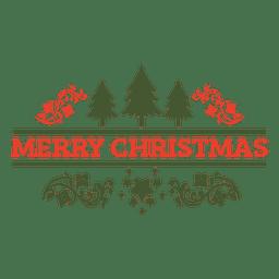 Insignia decorativa de navidad retro