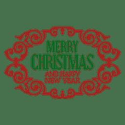 Retro christmas ornament badge
