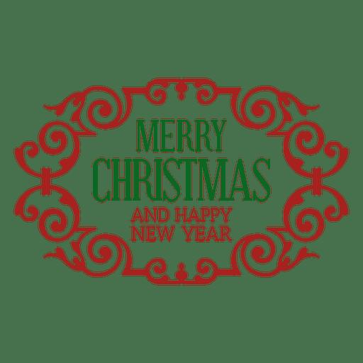 Crachá de enfeite de Natal retrô Transparent PNG