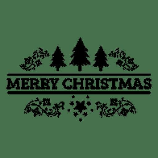Sello de navidad retro Transparent PNG
