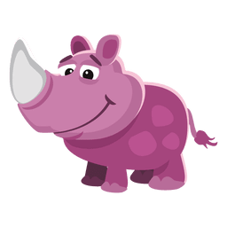 Dibujos animados divertidos de rinoceronte