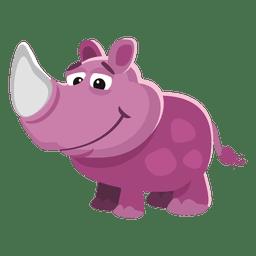 Divertidos dibujos animados de rinoceronte