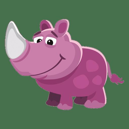 Divertidos dibujos animados de rinoceronte Transparent PNG