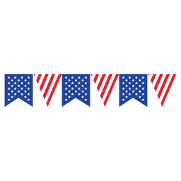 Ribbon triangle usa flag bunting