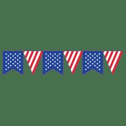 triângulo da fita da bandeira dos EUA Bunting