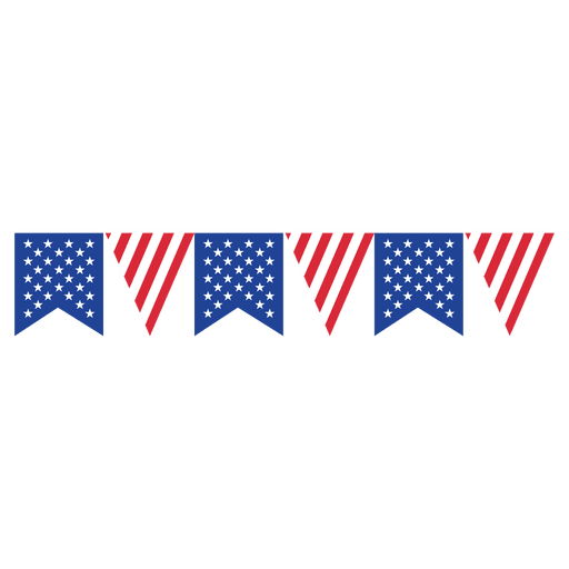Ribbon triangle usa flag bunting Transparent PNG