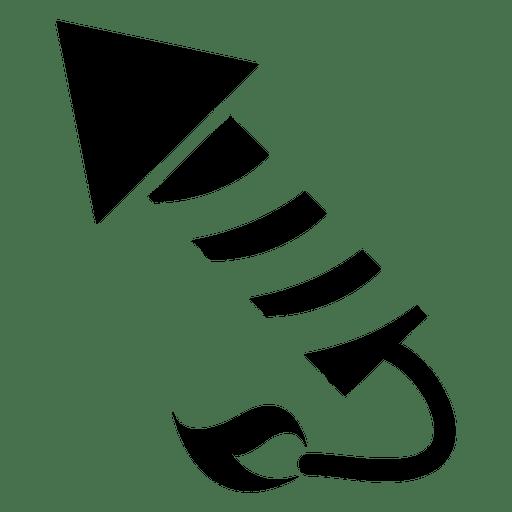 Foguete de fogo ícone plana Transparent PNG
