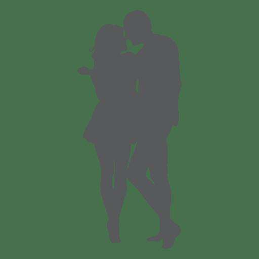 Besos románticos amante silueta Transparent PNG