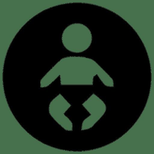 Icono de niños redondos