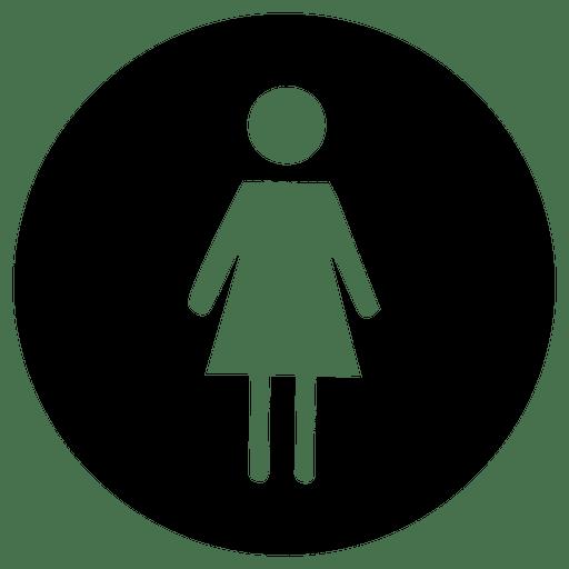 Runde Service Frau Symbol Transparent PNG
