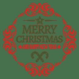 Arredondada ornamento emblema natal