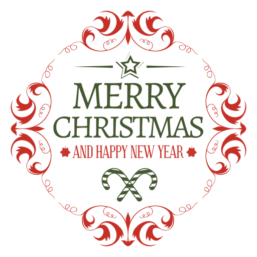 Merry Christmas Ornament Svg.Rounded Christmas Ornament Badge Transparent Png Svg Vector