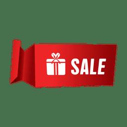 Verkauf Geschenkbox Etikett