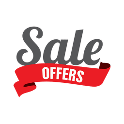 Rótulo de fita de oferta de venda