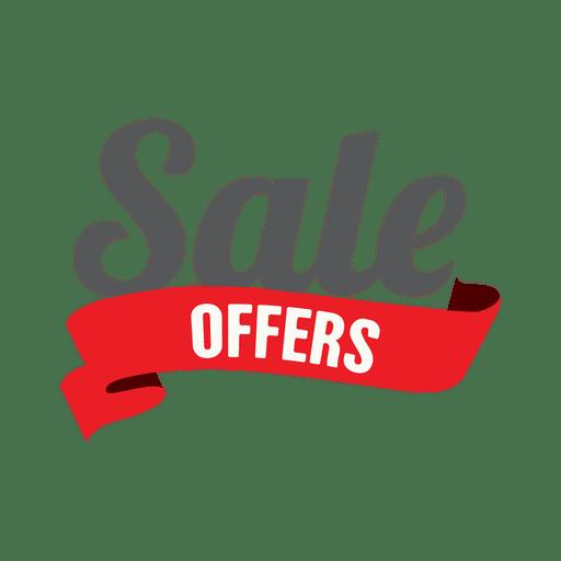 Sale offer ribbon label Transparent PNG