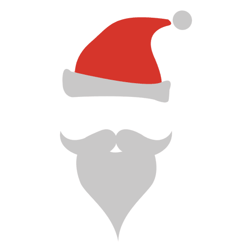 Santa claus beard hat silhouette - Transparent PNG & SVG ...