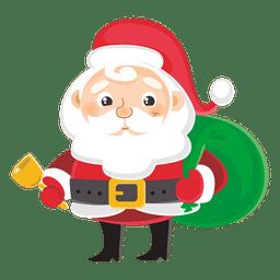 Papai Noel carregando bolsa de presente
