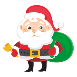 Santa claus carrying gift bag