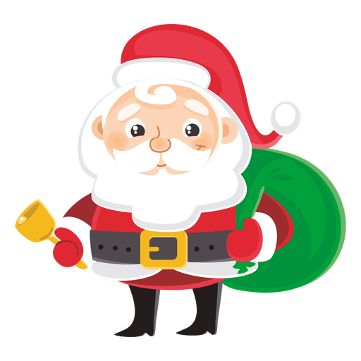 Santa claus carrying gift bag transparent png svg vector - Papa noel vector ...