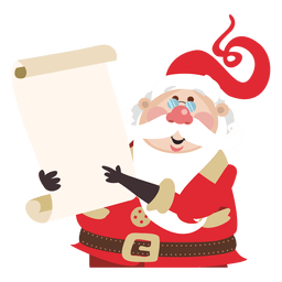 Santa claus cartoon holding list