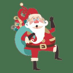 Papai Noel dos desenhos animados com presentes