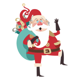 Santa claus cartoon with gifts