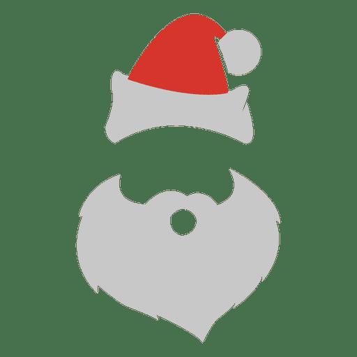Expressão facial de Papai Noel Transparent PNG