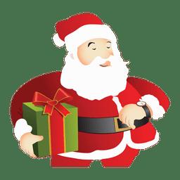 Weihnachtsmann, der Geschenk hält