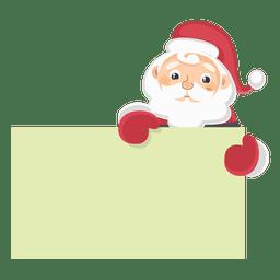 Papai Noel segurando a placa de texto