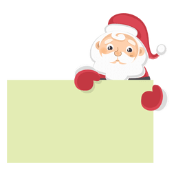 Santa claus holding text board