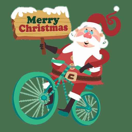 Santa claus montando bicicleta