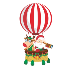 Santa deer on airballoon