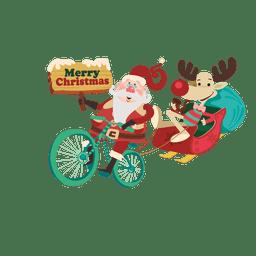 Trenó de Papai Noel com bicicleta