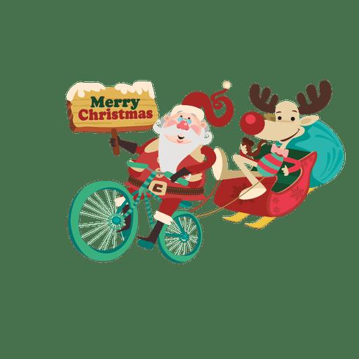 Trineo de Santa dragin con bicicleta Transparent PNG