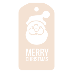 Santa face die cut xmas tag