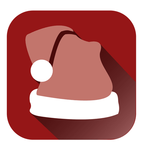 Santa hat red square icon Transparent PNG