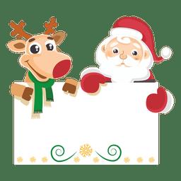 Mensagem de exploração de renas de Papai Noel