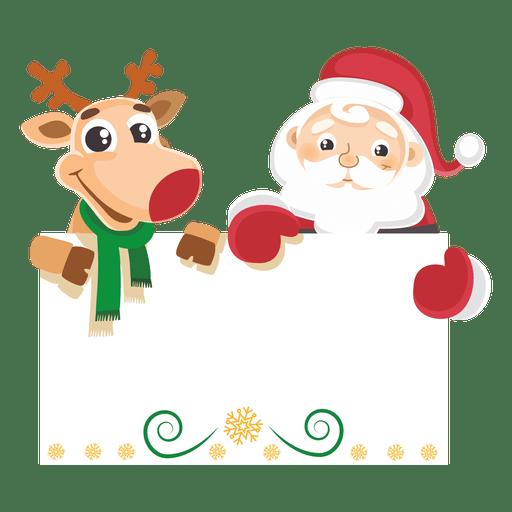 Santa claus with reindeer png