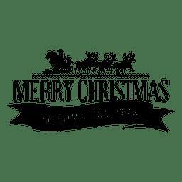 Etiqueta de Navidad de Santa trineo cinta