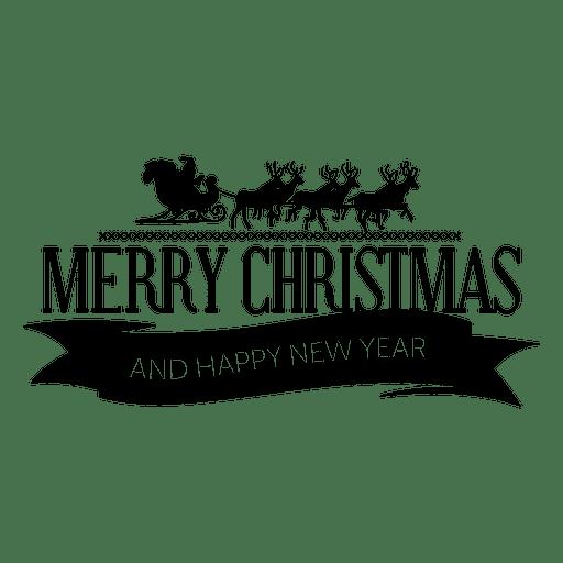 Etiqueta de navidad de cinta de trineo de santa