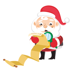 Santa with large gift list