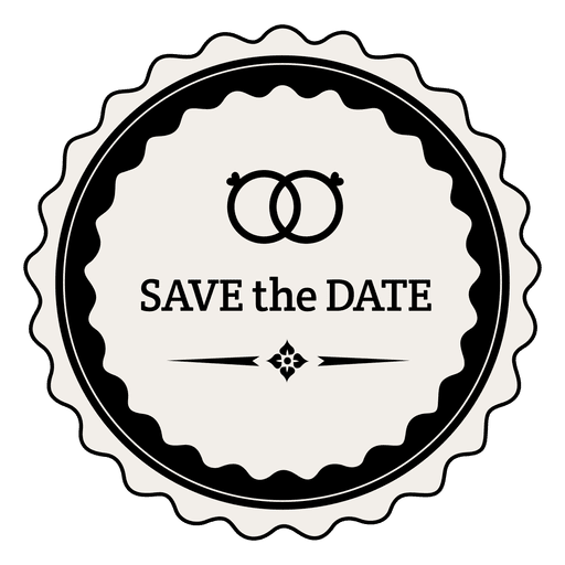 Save the date rings label Transparent PNG