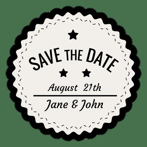 Save the date vintage badge Transparent PNG